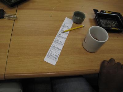 Tasting-Notizen, wie sie in der La Corona-Manufaktur offiziell verwendet werden.